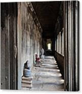 Hallway At Angkor Wat Canvas Print