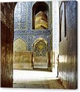 Hallway At Sheik-lotfollah Mosque Canvas Print