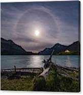 Halo Around The Solstice Moon Canvas Print