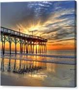 Halo Pier Sunrise  Canvas Print
