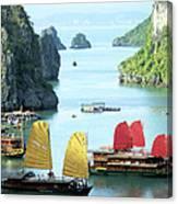 Halong Bay Sails 01 Canvas Print