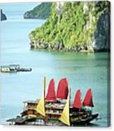 Halong Bay Sails 02 Canvas Print