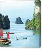 Halong Bay Sails 03 Canvas Print
