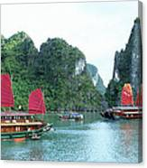 Halong Bay Sails 04 Canvas Print