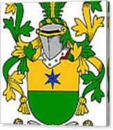 Haly Coat Of Arms Irish Canvas Print