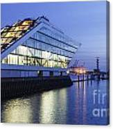 Hamburg Dockland At Night Canvas Print