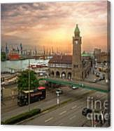 Hamburg Harbor Canvas Print