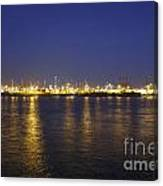 Hamburg Harbor Skyline Canvas Print