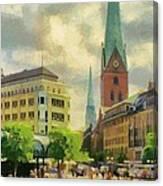 Hamburg Street Scene Canvas Print