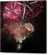 10715 Hamburg Winter Dom Fireworks Canvas Print