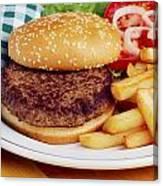 Hamburger & French Fries Canvas Print