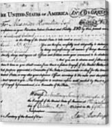 Hamilton: Appointment, 1777 Canvas Print