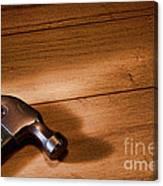 Hammer On Wood Canvas Print