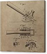 Hammer Patent Drawing Canvas Print