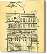 Hammond Organ Patent Art 1934 Canvas Print