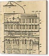 Hammond Organ Patent Canvas Print