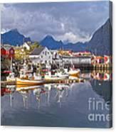 Hamnoy Fishing Village On Lofoten Islands Canvas Print