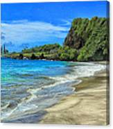 Hamoa Beach At Hana Maui Canvas Print