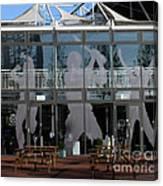 Hampshire County Cricket Glass Pavilion Canvas Print