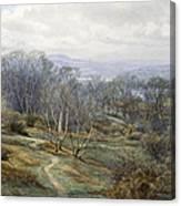 Hampstead Heath Looking Towards Harrow On The Hill Canvas Print
