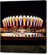 Hampton Coliseum Christmas Canvas Print