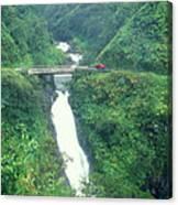 Hana Highway Waterfall Maui Hawaii Canvas Print