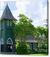 Hanalei Church Canvas Print