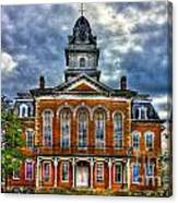 Before It Burned Hancock County Courthouse Art Canvas Print