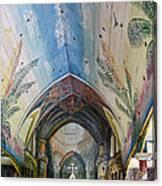 Hand Painted Church Interior Canvas Print