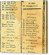 Handbill: Casualties, 1775 Canvas Print