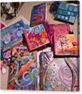 Handmade Journal Stash...#artjournal Canvas Print