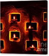 Handmade Oil Candles For Diwali Canvas Print