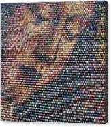 Handmade Wooden Easter Egg Mosaic Canvas Print