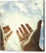 Hands In Sky Canvas Print