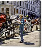 Handsome Hansom Driver  Canvas Print