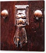 Handy Door Knocker Canvas Print