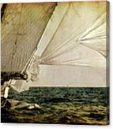 Hanged On Wind In A Mediterranean Vintage Tall Ship Race  Canvas Print