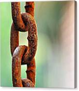 Hanging Chain Before Pastel Bokeh Canvas Print