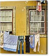 Hanging Clothes Of Old Europe II Canvas Print