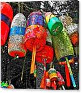Hanging Lobster Buoys Canvas Print