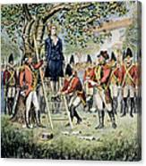 Hanging Of Nathan Hale Canvas Print