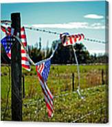 Hanging On - The American Spirit By William Patrick And Sharon Cummings Canvas Print