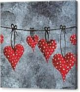 Hanging On To Love Canvas Print