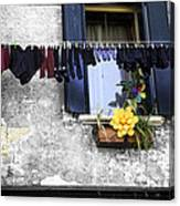 Hanging Out To Dry In Venice 2 Canvas Print
