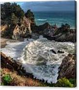 Hanging Waterfall In Big Sur Canvas Print