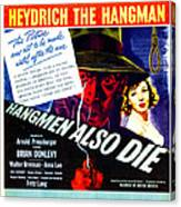 Hangmen Also Die, Us Poster, From Left Canvas Print