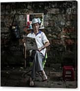Hanois Street Style Barbers Canvas Print
