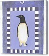 Hanukka Penguin Three Canvas Print