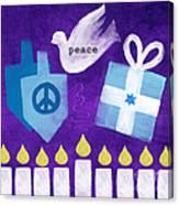 Hanukkah Peace Canvas Print