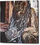 Hanuman In Chains Canvas Print